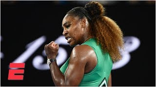 Serena Williams dominant in 2nd-round win vs. Eugenie Bouchard   2019 Australian Open Highlights Video