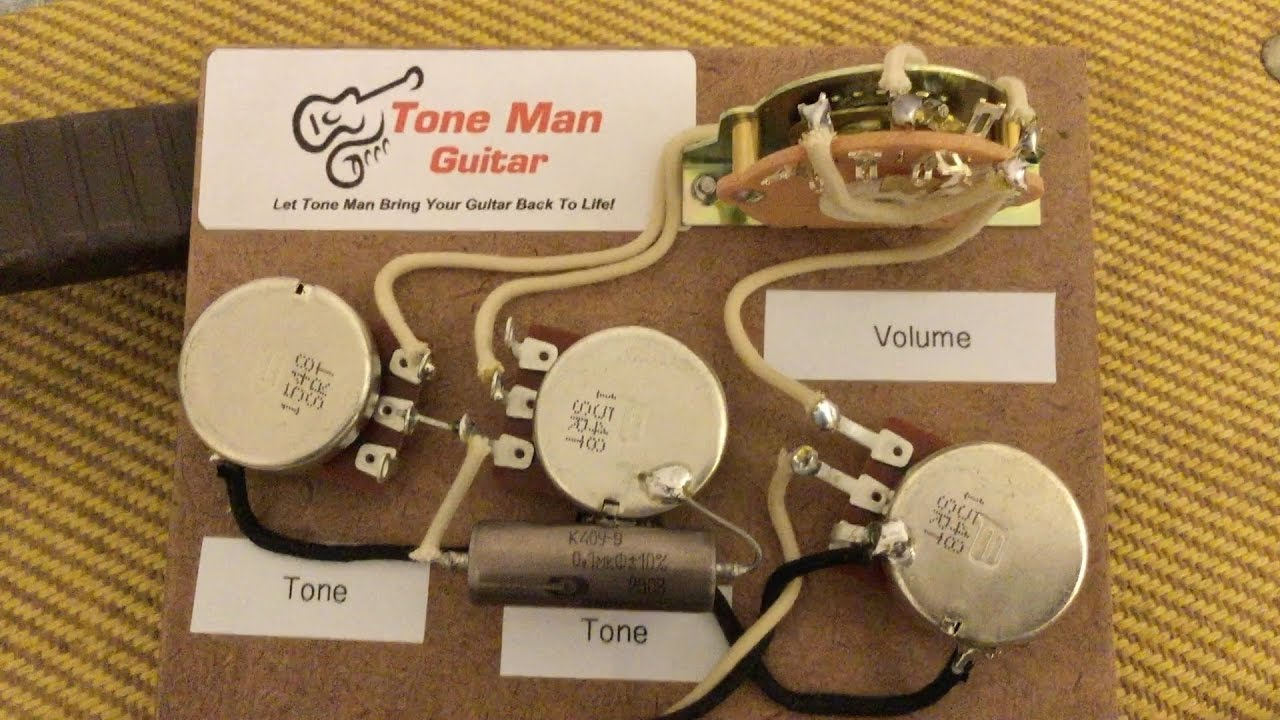 tone man guitar eric johnson style wiring harness youtube. Black Bedroom Furniture Sets. Home Design Ideas