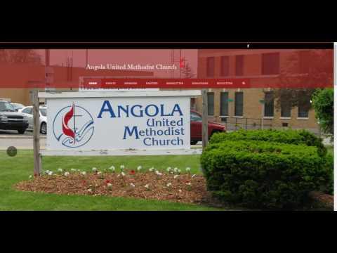 Web design Angola - WordPress - Website - Angola United Methodist Church
