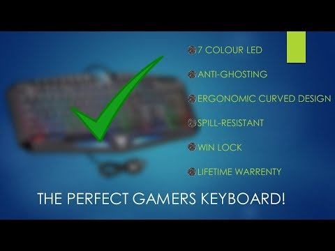 VicTsing LED Backlit Wired Gaming Keyboard - Best keyboard under $30
