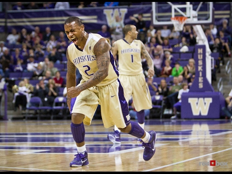 buy popular 8a36b 204a8 Isaiah Thomas Throwback Washington Huskies Highlights vs California