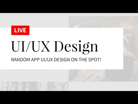 UI/UX Design Tutorial - Random App - Design On The Spot LIVE! thumbnail