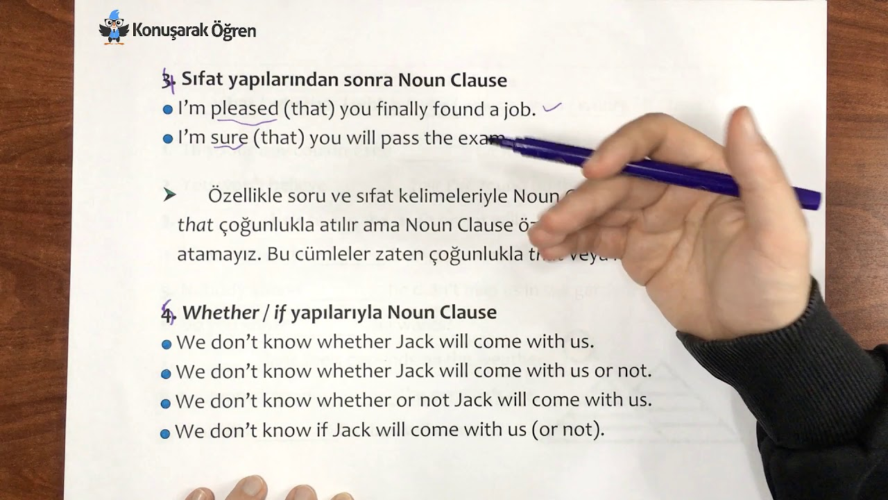 Noun Clause Konu Anlatımı - Ders 79