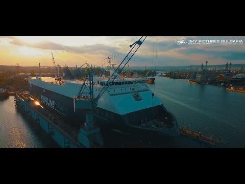 Корпоративно видеозаснемне на кораборемонт с дрон/Shiprepair drone video