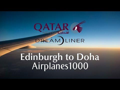 Qatar Airways Boeing 787-8 Dream)iner A7-BCU Edinburgh to Doha Flight Report *FULL FLIGHT*