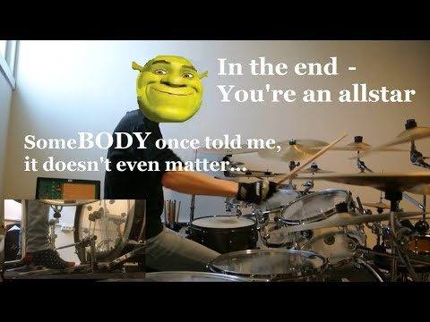 Linkin Park - In the End [Very serious drum cover, plz don't mind Shrek, he's cool]