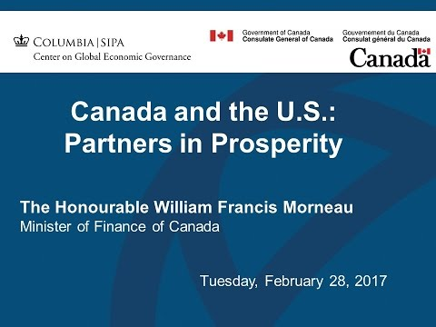 Canada and the U S : Partners in Prosperity