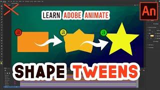 SHAPE TWEENS Adobe Animate CC Tutorial Using Shape Hints
