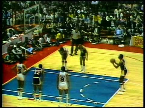 Magic Johnson 42 pts,15 reb,7 ast, nba-finals 1980 lakers vs 76ers game 6