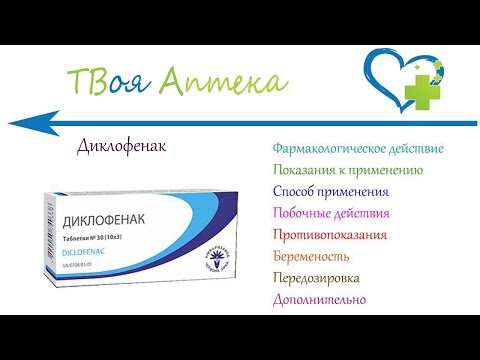 Диклофенак таблетки - показания (видео инструкция) описание, отзывы