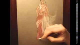 Saree  Sari Tutorial_ Fashion Design Drawing Lesson #7
