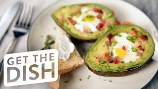 How to Make Baked Eggs in Avocado For Breakfast | Get the Dish