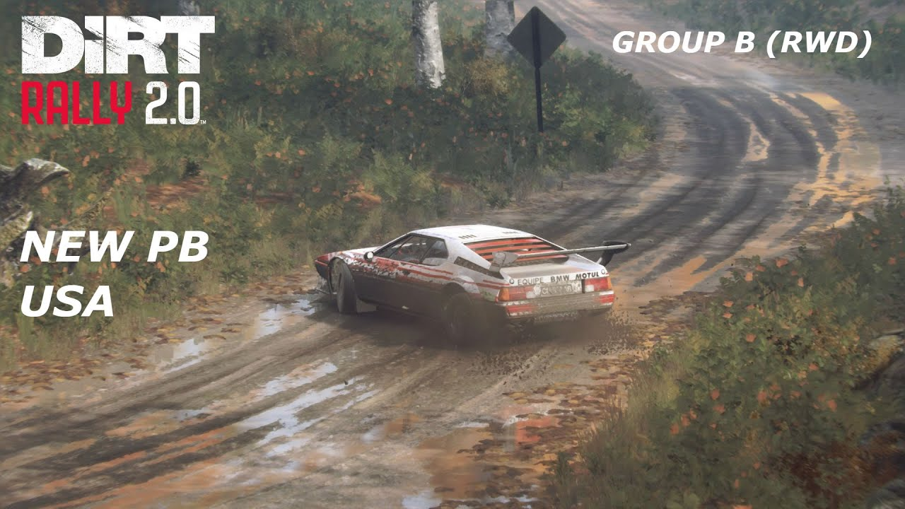 Dirt Rally 2.0 BMW M1 PROCAR - Group B (RWD) - Hancock Creek Burst - New England, USA - Bonnet view