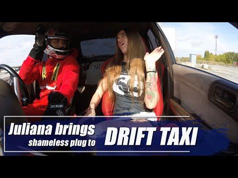 Juliana Brings Shameless Plug To Drift Taxi Ride
