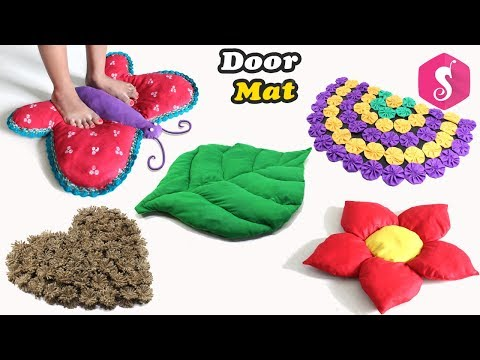 5 Creative DOORMAT DESIGNS from Waste Material By Sonali Creations