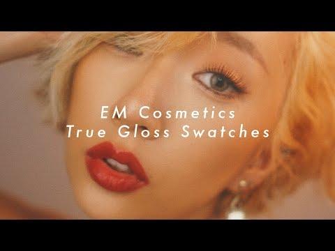 EM COSMETICS TRUE GLOSS SWATCHES (VERTICAL VIDEO) | DAS