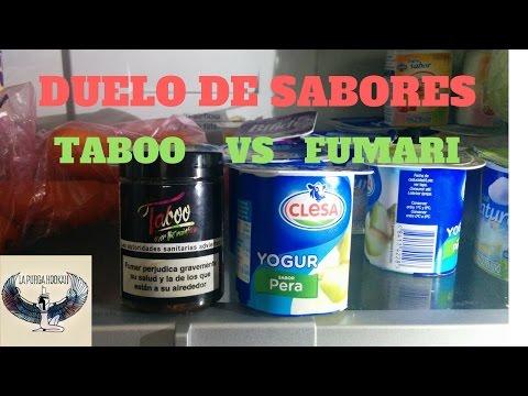 Duelo de sabores. Taboo vs Fumari. PERA MENTA.