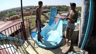 Blue Toboga Water Slide at Splash The Sun City