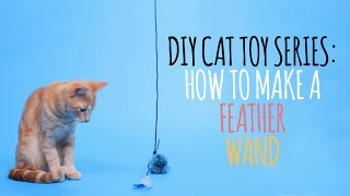 Diy Cat Toys - How To Make A Feather Wand