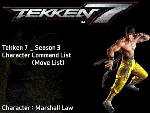 Tekken 7 Season 3 Law Command List _ Move List