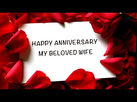 Happy Anniversary My Beloved Wife Free For Her Ecards