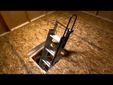 Werner Compact Attic Ladder Fits In Tight Spaces Youtube