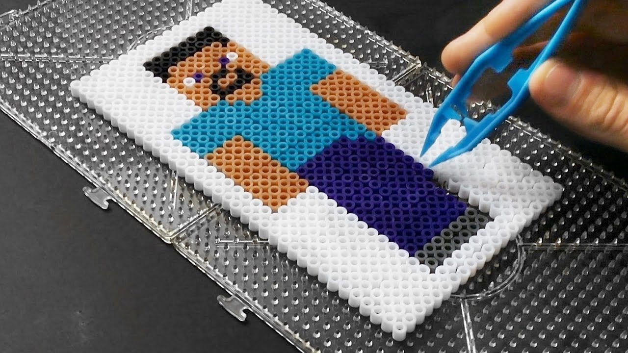 Steve Minecraft Skin Mc Fan Art Perler Hama Beads