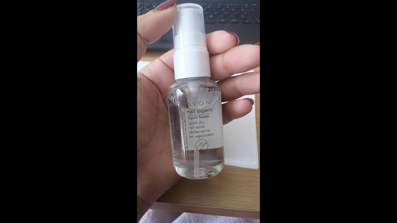 How to dry your nails fast using AVON Quick Dry Nail Spray - YouTube