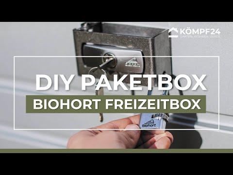 So rüsten Sie Ihre Biohort Freizeitbox um zu einer Paketbox