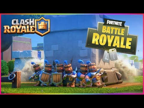 DANSE FORTNITE SUR CLASH ROYALE AVEC LES RECRUES ROYALES CLASH ROYALE
