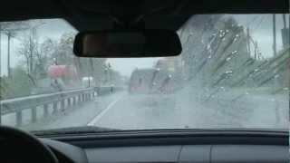 Как работает антидождь в дождь, снег и в движении