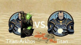 Shadow Fight 2 Titan-Arkhos vs Titan