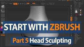 How to Start with ZBrush - Character Head Sculpting - Part 5