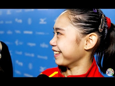 Liu Tingting (CHN) Interview - 2017 World Championships - Balance Beam Final