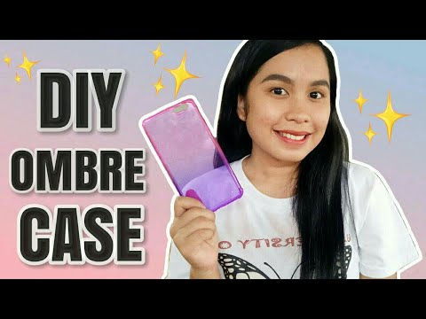 DIY OMBRE 📱CELLPHONE CASE USING CREPE PAPER |  HEYITSKIIMMII