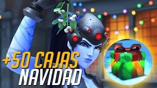 ABRIENDO 50 CAJAS DE NAVIDAD | Overwatch