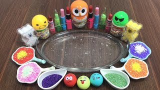 MIXING MAKEUP AND FLOAM INTO CLEAR SLIME ! MOST SATISFYING SLIME VIDEOS | HUONG SLIME