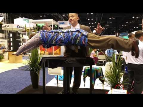 The Talk of the ISSA Trade Show in Chicago.  Actual Attendee Levitation!