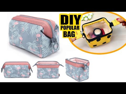 DIY Zipper Wire Frame Pouch Bag & Makeup Bag Tutorial & Mast Have