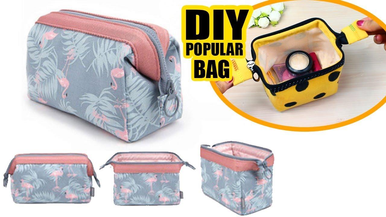 a44df5cebfc3 DIY Zipper Wire Frame Pouch Bag   Makeup Bag Tutorial   Mast Have ...