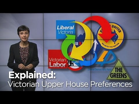 Victoria's Upper House preference deals explained