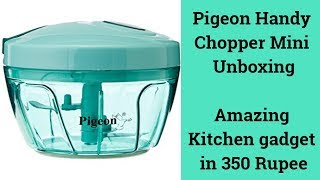 Pigeon Handy Chopper Mini Unboxing   A Necessary Gadget for Every Kitchen   Tech Render   Hindi