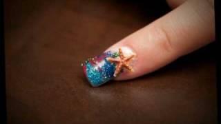 FAB Acrylic Nails, ocean, mermaid, aquarium design Thumbnail