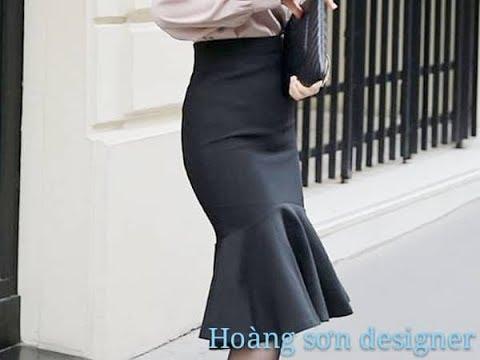 dạy cắt may cơ bản: hướng dẫn cách cắt chân váy đuôi cá|chân váy,cắt chân váy,hoàng sơn designer