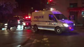 NYPD Police Vans Responding Due To A Crazy Night Of Protesting The Death Of Freddie Gray In NYC