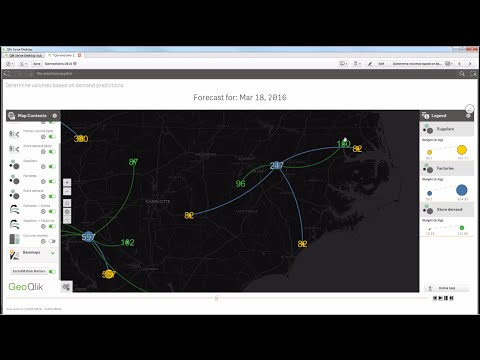 GeoQlik for Qlik Sense Demo: climate-oriented BI case study (English language)
