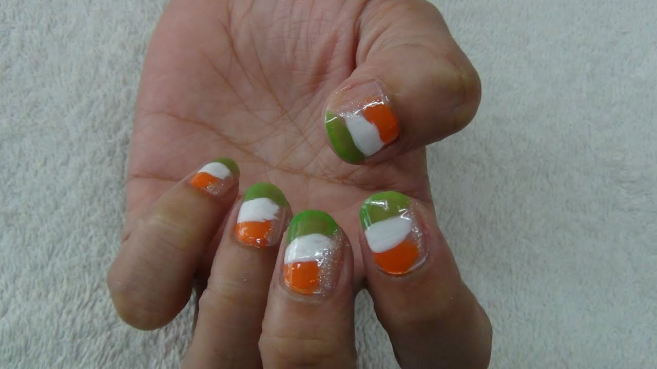 Indian independence day nail art tutorial youtube indian independence day nail art tutorial prinsesfo Image collections