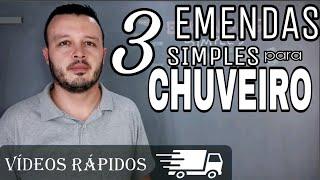 COMO FAZER EMENDA NO CHUVEIRO - EMENDA DE CABOS