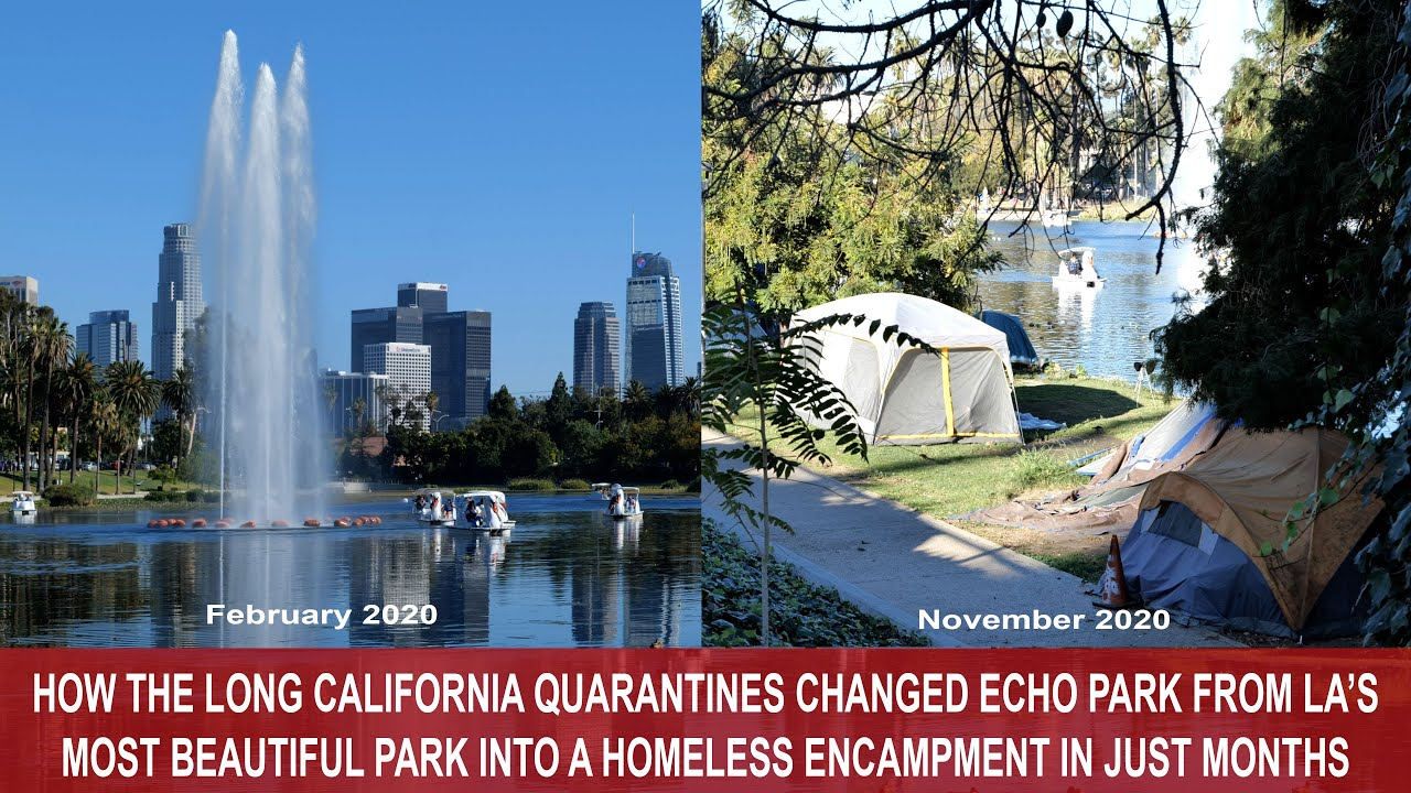 Download How Quarantine Turned Beautiful Echo Park in Los Angeles Into a Homeless Encampment