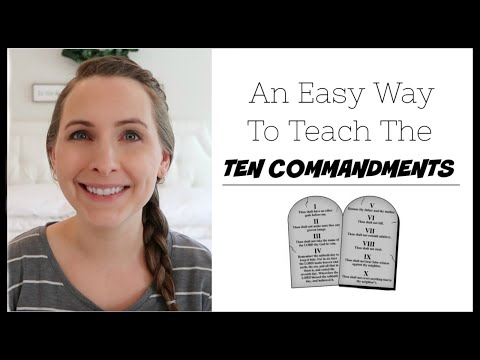 TEACHING KIDS THE 10 COMMANDMENTS!